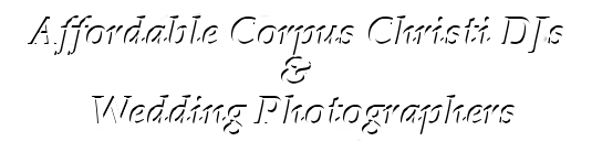 Affordable Corpus Christi DJs and Wedding Photographers