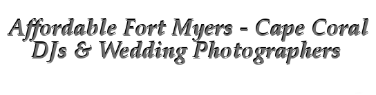 Affordable Wedding Photography Fort Myers FL